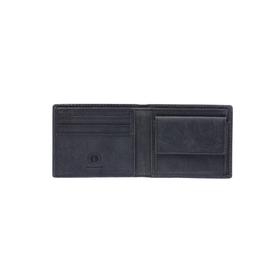 Бумажник KLONDIKE Yukon, натуральная кожа в чёрном цвете, 10,5×2,5×9 см