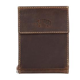 Бумажник KLONDIKE Yukon, с зажимом для денег, коричневый, 12×1,5×9 см