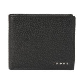 Кошелёк Cross Hudson Black, кожа наппа, фактурная, чёрный, 11×9×1,5 см