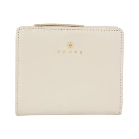 Кошелёк Cross Monaco Ivory, кожа наппа, гладкая, цвет слоновая кость, 11×9×2,5 см