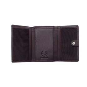 Мини-бумажник KLONDIKE Claim, натуральная кожа в коричневом цвете, 10,5×2×7,5 см