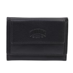 Мини-бумажник KLONDIKE Claim, натуральная кожа в чёрном цвете, 10,5×2×7,5 см
