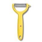 Нож для чистки томатов и киви VICTORINOX, двустороннее зубчатое лезвие, жёлтая рукоять