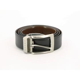 Ремень Cross Manresa, двухсторонний, кожа наппа гладкая, цвет чёрный/коричневый, 126×3,5 см   456150