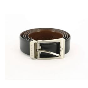 Ремень Cross Mansera, двухсторонний, кожа наппа гладкая,цвет чёрный/коричневый, 126×3,5 см