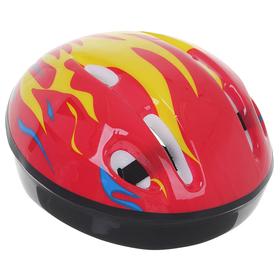 Шлем защитный детский OT-H6, размер S, 52-54 см, цвет красный Ош