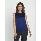 Блузка женская, размер 50, цвет синий - Фото 2