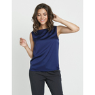 Блузка женская, размер 50, цвет синий - Фото 3