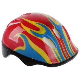 Шлем защитный детский OT-H6, размер M, 55-58 см, цвет красный Ош