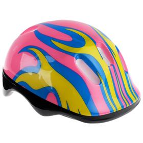Шлем защитный детский OT-H6, размер M (55-58 см), цвет розовый