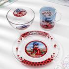 Набор для завтрака «Леди Баг и Супер Кот, Париж», 3 предмета, в подарочной упаковке