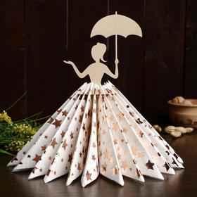 Салфетница «Девушка под зонтиком», 23,5×12,5×0,3 см
