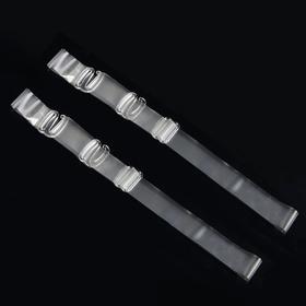 Бретельки силиконовые, 1,5 см, пара, цвет прозрачный Ош