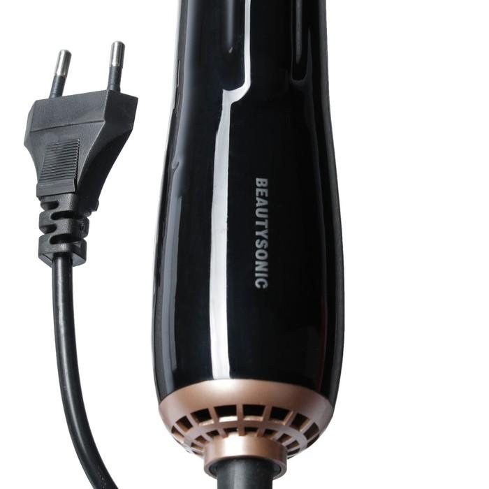 Фен-щетка для волос LuazON LFS-02, 5 в 1, 1400 Вт, 4 насадки, 2 режима, чёрный