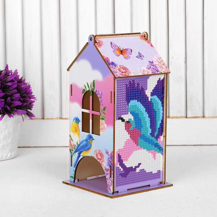 Алмазная вышивка «Чайный домик. Птицы», 19,6 х 9 х 9 см. Набор для творчества