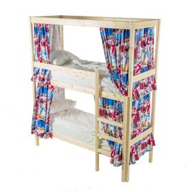 Двухъярусная кровать с каркасом для штор, 900х2000, цвет сосна Ош