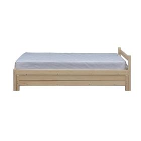 Кровать с выдвижным спальным местом 2 в 1, 800х2000, цвет сосна Ош