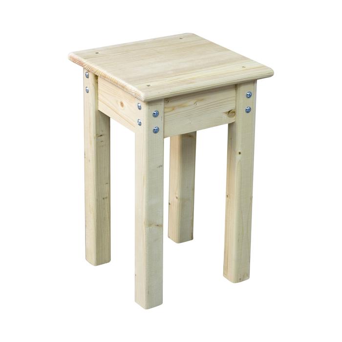 Деревянный табурет, 300 × 300 × 450 мм, цвет сосна