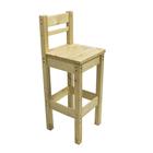 Барный стул с высокой спинкой, 400 ? 400 ? 1150 мм, цвет сосна