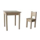 Набор «Незнайка», стол и стул, цвет сосна
