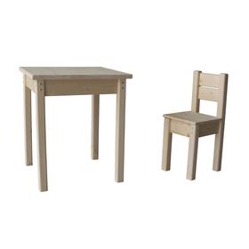 Набор «Незнайка», стол и стул, цвет сосна Ош