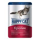 Влажный корм Happy Cat для кошек, кролик/ в соусе 100 г