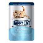 Влажный корм Happy Cat для котят, курочка/морковь в соусе, 100 г