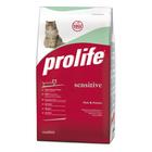 Сухой корм ProLife Sensetive, для кошек, рыба/картофель,12 кг