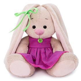 Мягкая игрушка «Зайка Ми в розовом платье в полоску», 15 см