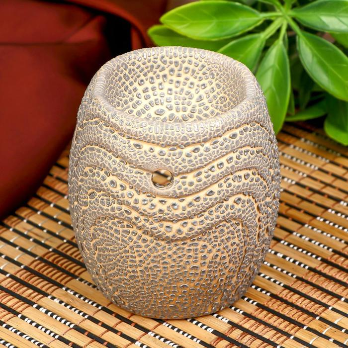 Аромалампа керамика Текстура МИКС 8х6,5х6,5 см