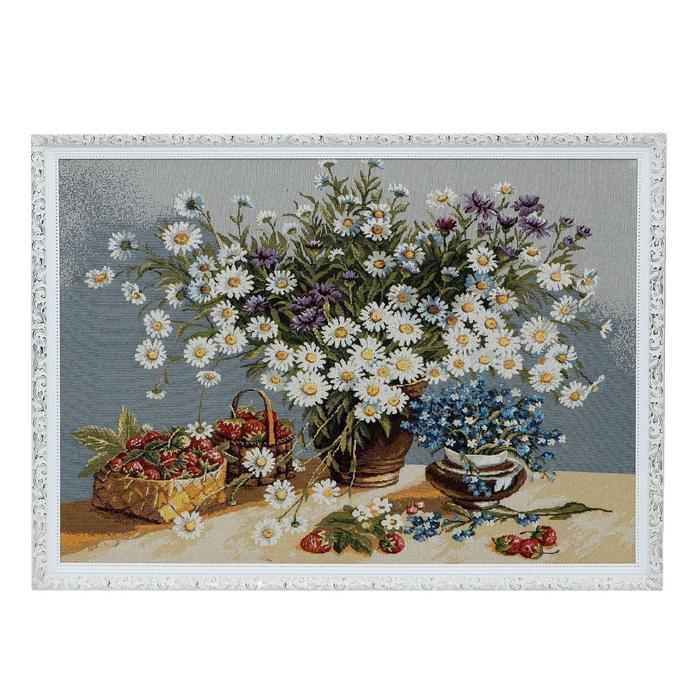 "Гобеленовая картина ""Белые ромашки"" 71х51 см"