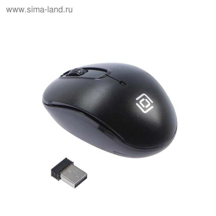 Мышь Oklick 505MW, беспроводная, оптическая, 1000 dpi, USB, черная