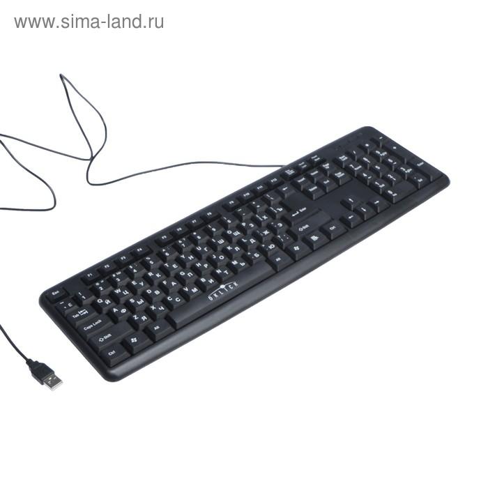Клавиатура Oklick 180M, проводная, мембранная, 104 клавиши, USB, чёрная