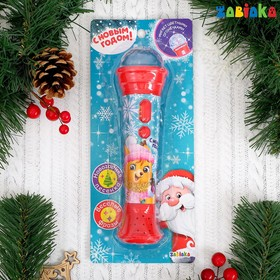 Новогодний микрофон «Новогодняя сказка», световые и звуковые эффекты, цвет красный Ош