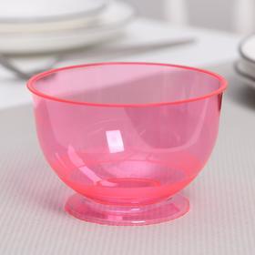 Креманка одноразовая «Кристалл», 200 мл, цвет красный, 16 шт/уп. Ош