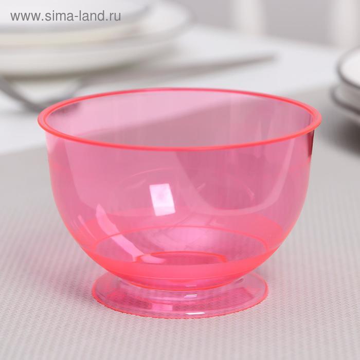 Креманка «Кристалл», 200 мл, цвет красный, 16 шт/уп.