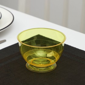 Креманка одноразовая «Кристалл», 200 мл, цвет жёлтый