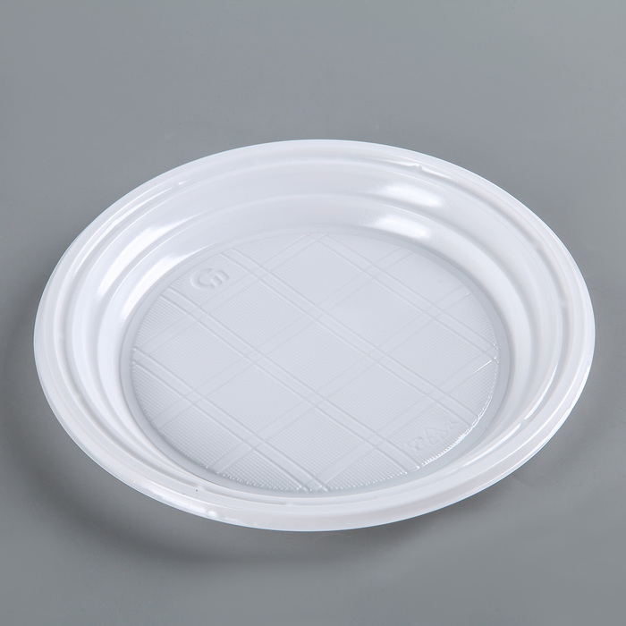 Тарелка десертная, d=16,5 см, цвет белый, 100 шт/уп.