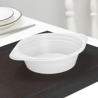 Тарелка одноразовая суповая, 500 мл, цвет белый - Фото 1