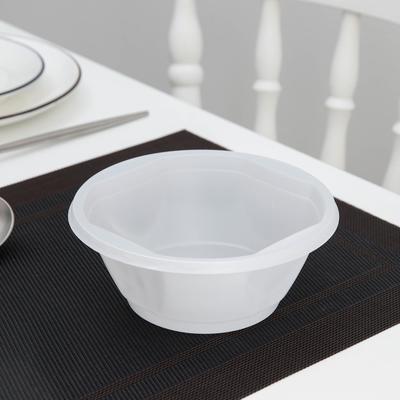 Тарелка одноразовая суповая, 600 мл, 50 шт/уп, цвет белый