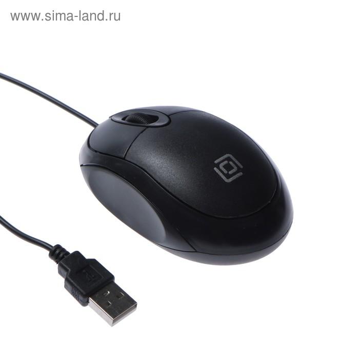 Мышь Oklick 105S, проводная, оптическая, 800 dpi, USB, черная