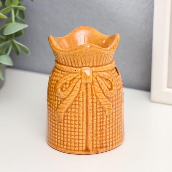 Аромалампа керамика Мешочек с бантиком МИКС 9х6,5х6,5 см