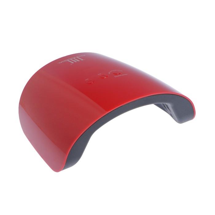 Лампа для гель-лака TNL Spark, UV/LED, 24 Вт, 12 диодов, таймер 30/60/99 сек, красная
