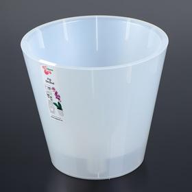 Кашпо со вставкой InGreenl «Фиджи Орхидея», 5 л, цвет белый перламутр