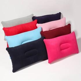 Подушка дорожная, надувная, 24 × 28 см, цвет МИКС Ош