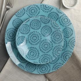 Сервиз столовый «Аурика», 7 предметов: 6 тарелок d=20 см, 1 тарелка d=30 см