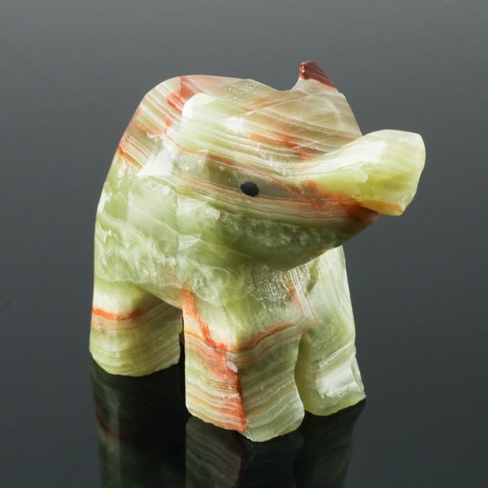 Сувенир «Слон», 6,3 см, оникс