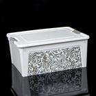 Контейнер для хранения с крышкой Smart Box, 7,9 л, 32×25×14 см, с декором Home, цвет МИКС