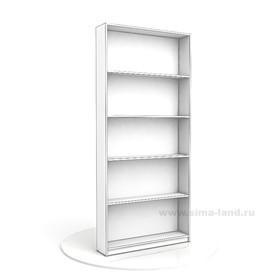 Стеллаж из ЛДСП, 2000х900х200 цвет белый, задняя стенка цвет белый Ош
