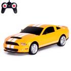 Машина радиоуправляемая Ford Shelby Mustang, 1:24, работает от батареек, свет, цвет желтый, mz 27050